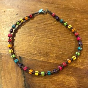 Rainbow bead choker